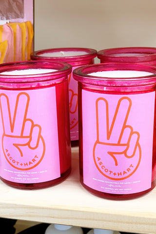 AH Pink Peace Candle