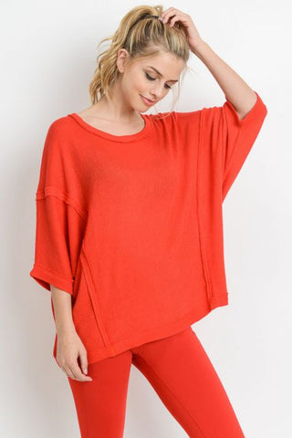 Red Dolman Tunic