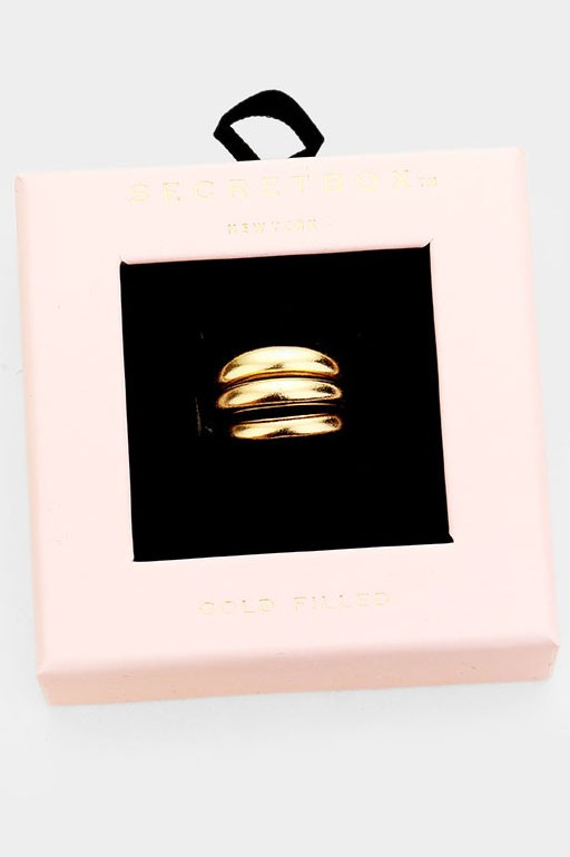Gold Filled Simple Ring Set