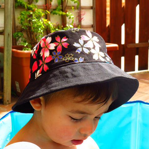 Barret Bucket Flors Fúcsia Mini