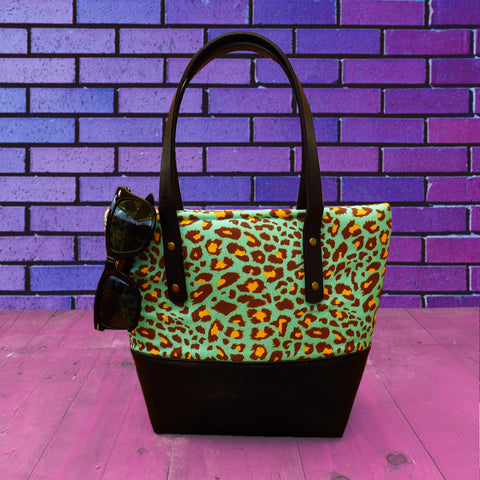 Animal Print Turquoise Handbag