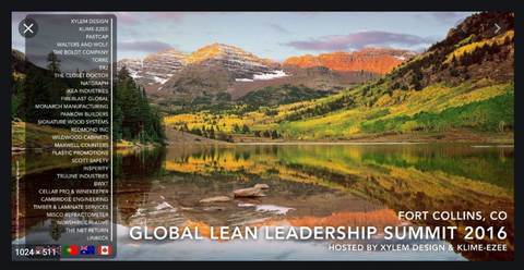 Xylem Designs hosted the 2016 Global Lean Leadership Summit at it's facilities in Fort Collins, Colorado