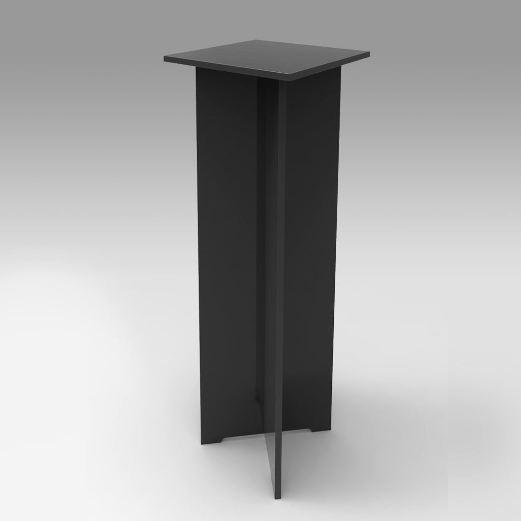 Black Laminate Quickset Collapsible Pedestal 11.5