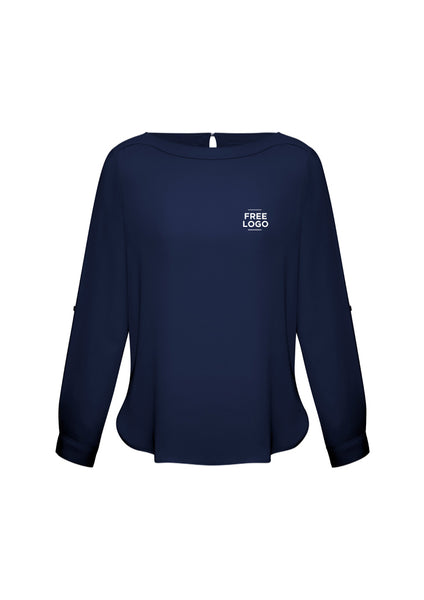 Ladies Madison Boatneck Blouse from $53.95