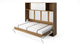 Invento Horizontal Wall Bed, Twin Size with a cabinet on top