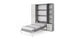 Invento Vertical Full XL Wall Bed, Size with 2 cabinets