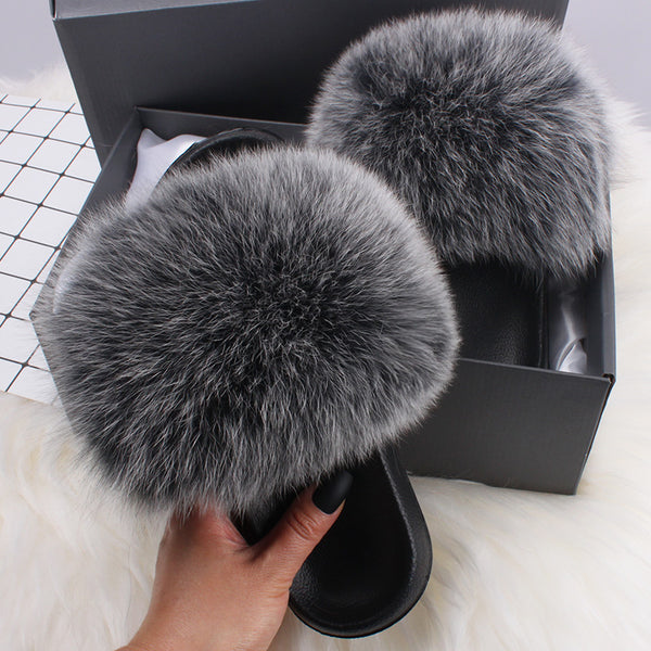 FW 19/20 Gaia Fox - Fur Slide