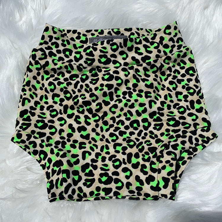 Neon Animal Print Shorties
