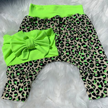 Load image into Gallery viewer, Neon Animal Print Harem Pants