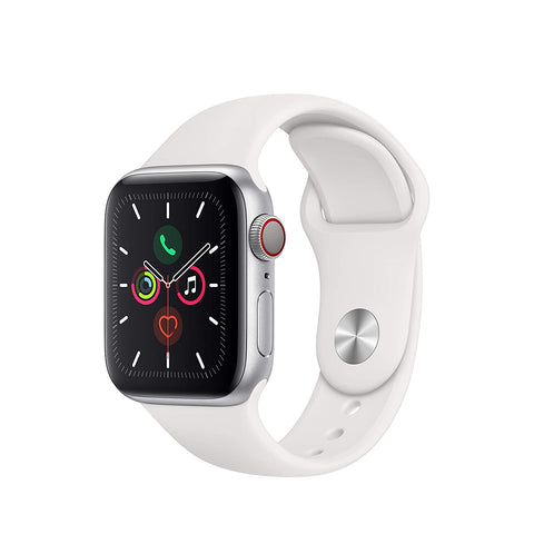 Apple Watch Series 5 40mm White Sport Band with Silver Aluminium Case MWX12 4G LTE