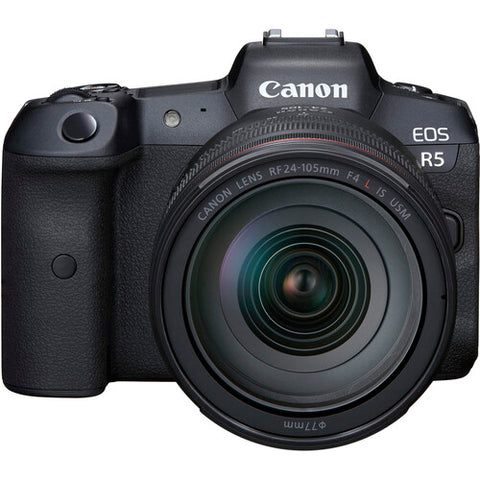 Canon EOS R5 with RF 24-105mm f/4L IS USM Lens Without R Adapter
