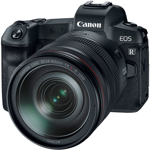 Canon EOS R with RF 24-105mm f/4L IS USM Lens With R Adapter