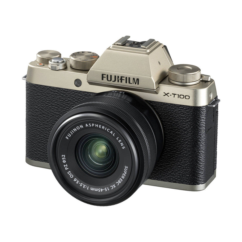Fujifilm X-T100 Kit with 15-45mm (Champagne Gold)