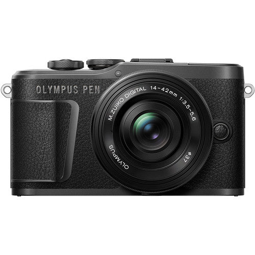 Olympus PEN E-PL10 Mirrorless Digital Camera with 14-42mm Lens (Black)