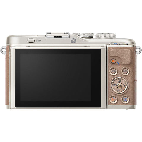 Olympus PEN E-PL10 Mirrorless Digital Camera with 14-42mm Lens (Brown)