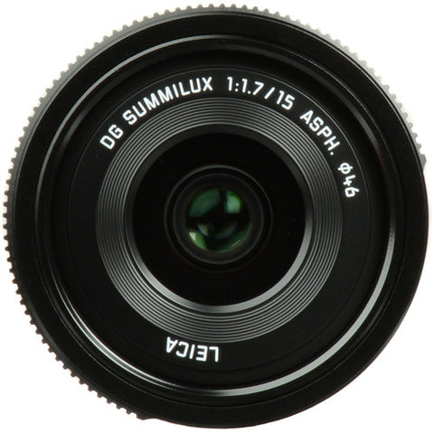 Panasonic LEICA DG SUMMILUX 15mm F1.7 ASPH Black