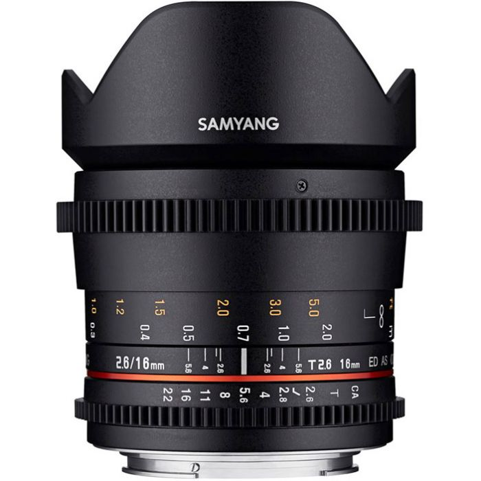 Samyang 16mm T2.6 ED AS UMC Lens (Canon EF)