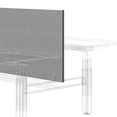 Cental Office Screen - Office Divider - Black edge