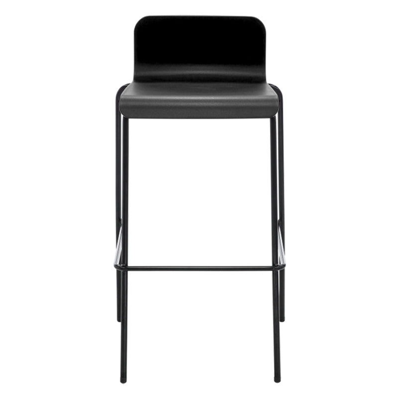 Flo Barstool - Stacking Stool - Kitchen Leaner Stool Trolley chrome legs