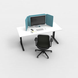 Desk Cubby Acoustic Screen - Desk Screen _ Acoustic Office blue