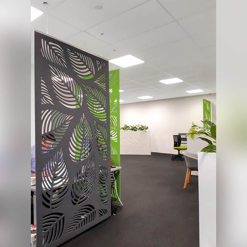 Acoustic Hanging Panel - Office Acoustics - Sound Panels leaves cutout 3D