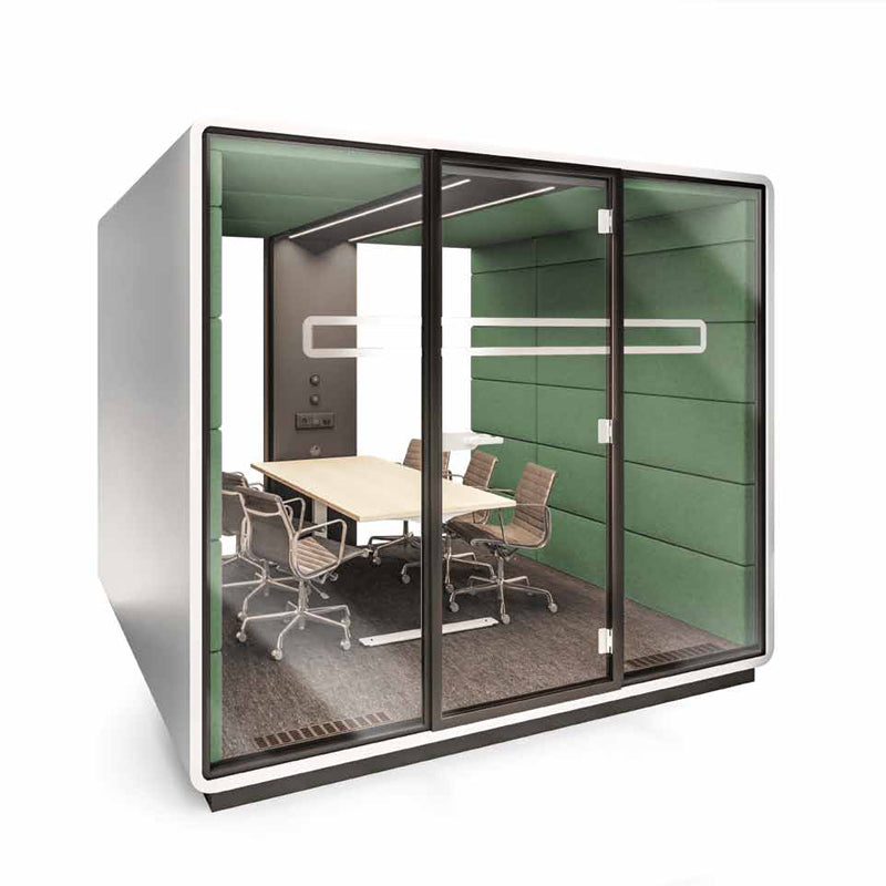Hush Meet Scene acousting meeting pod green