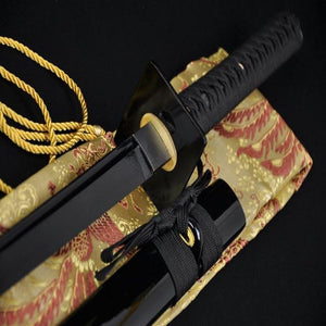 Handmade Laminated Full-Black Ninjato