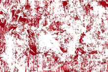 Load image into Gallery viewer, Abstract panting with red ddrips and splatter pushing through white texture.