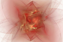 Load image into Gallery viewer, Abstract fractal with reds and golds. with a lot of energy and motion. bright points like stars.