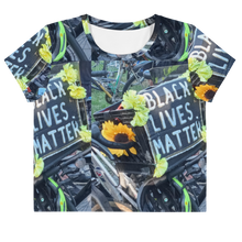 Load image into Gallery viewer, BLM All-Over Print Crop Tee