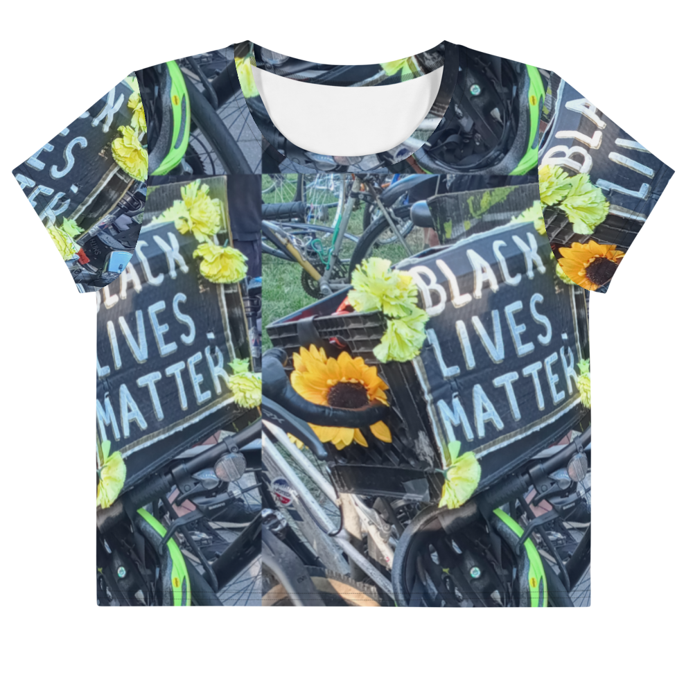 BLM All-Over Print Crop Tee