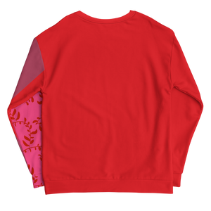 Red Pink and Mauve Sweatshirt
