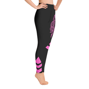 Yoga Leggings Budah Bless Black and Pink