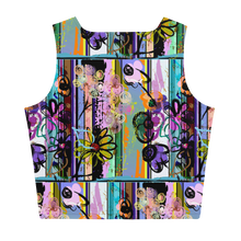 Load image into Gallery viewer, Blue Florals Sublimation Cut & Sew Crop Top