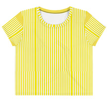 Load image into Gallery viewer, Yello Striped Print Crop Tee