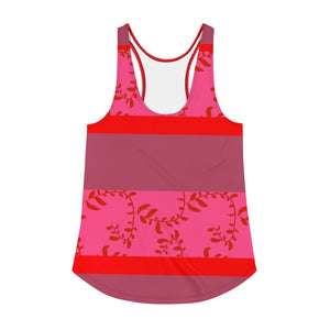 Red, Pink and Mauve Racerback Tank