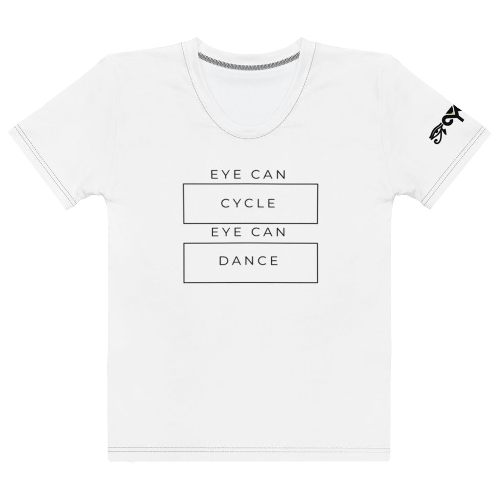 Eye Can Cycle Eye Can Dance White T-shirt