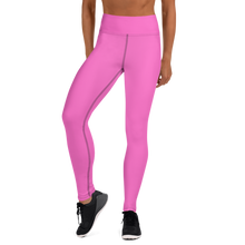Load image into Gallery viewer, Pink Path Yoga Leggings
