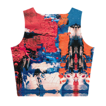 Load image into Gallery viewer, Red Blue & Orange Sew Crop Top