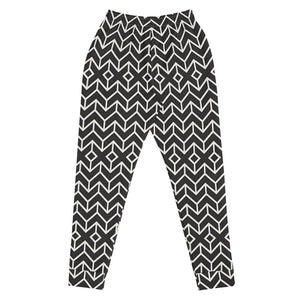 Black and White Cross Joggers