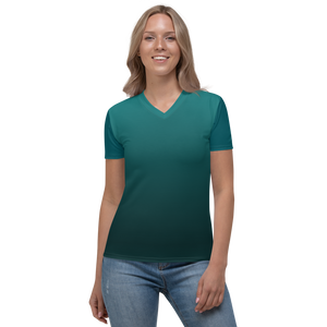 Women's V-neck Teal