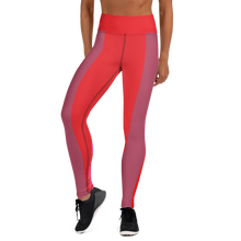 Load image into Gallery viewer, Mauve and Hot Yoga Leggings