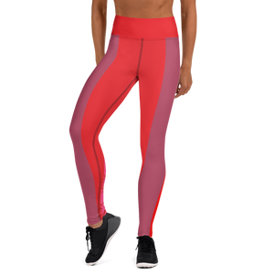 Mauve and Hot Yoga Leggings