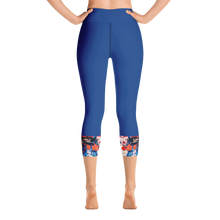 Load image into Gallery viewer, Blue, Red and Orange Capri Leggings