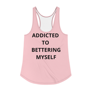 SOFT PINK ADDICTED Women's Racerback Tank