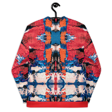 Load image into Gallery viewer, Red Blue and Orange Unisex Bomber Jacket