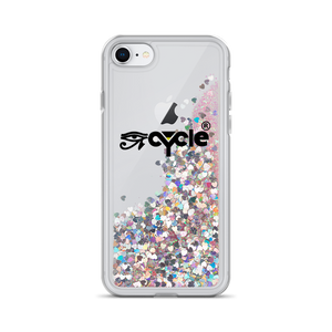 EyeCycle Harlem Liquid Glitter Apple Phone Case