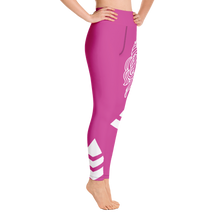 Load image into Gallery viewer, Yoga Leggings Budah Bless Hot Pink