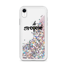 Load image into Gallery viewer, EyeCycle Harlem Liquid Glitter Apple Phone Case