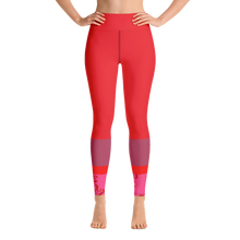 Load image into Gallery viewer, Vibrant Mauve and Red Leggings